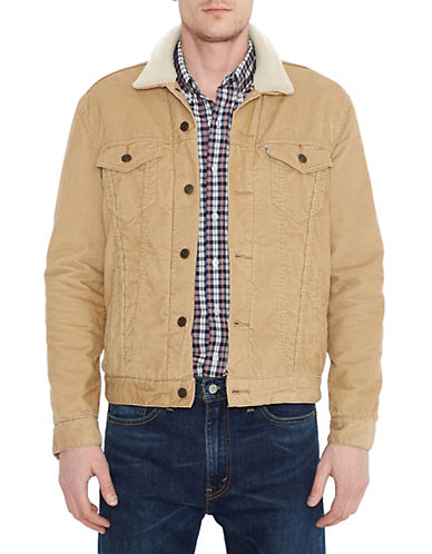LeviS The Sherpa Trucker Jacket-CHINO-Large