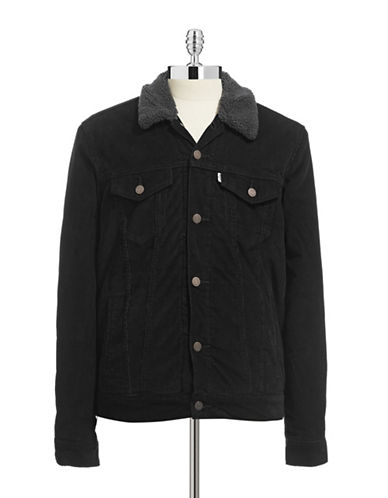 LeviS Corduroy Sherpa Jacket-BLACK-Medium