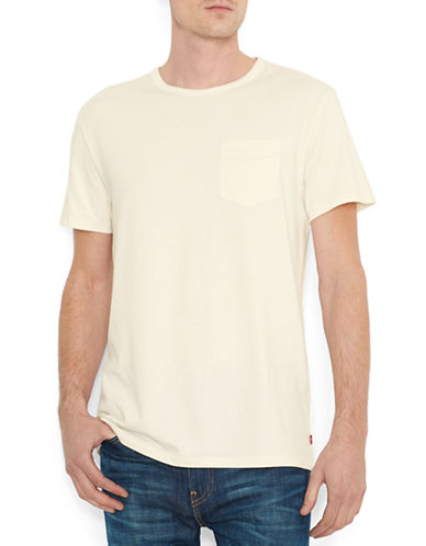 LeviS Sunset Pocket T-Shirt-WHITE-Medium