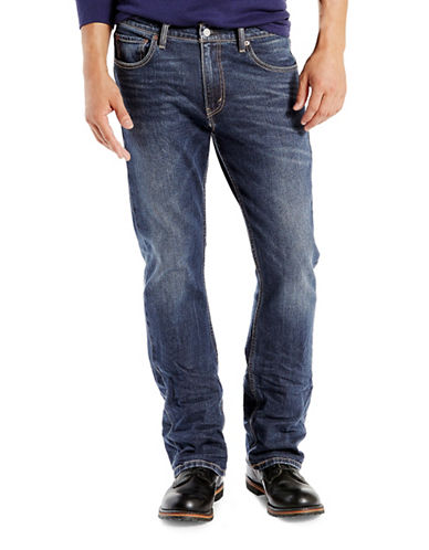 LeviS 527 Wave Allusions Slim Bootcut Jeans-BLUE-30X32