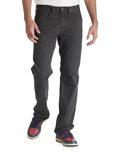 LeviS 505 Regular-Fit Cotton Jeans-GREY-32X34