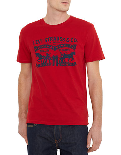 Levi'S Two Horse Pull Graphic T-Shirt-RED-Large 87694577_RED_Large