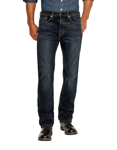 LeviS 505 Regular-Fit Navarro Jeans-DARK BLUE-34X32