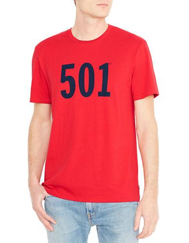 LeviS 501 Cotton T-Shirt-RED-Medium