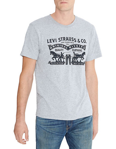 Levi'S Two Horse Graphic Tee-GREY-X-Large 88529225_GREY_X-Large