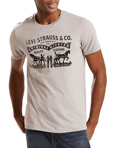 LeviS Logo Graphic Tee 2-GREY-Small