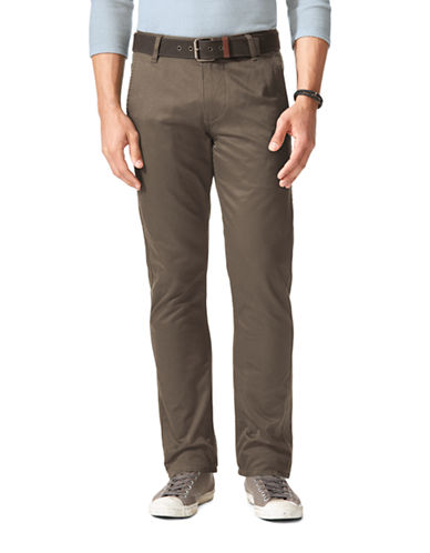 Dockers Alpha Slim Khaki-DARK PEBBLE-42X32