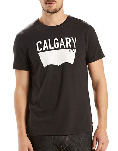 LeviS Destination City Calgary T-Shirt-BLACK-Medium