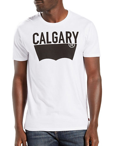 LeviS Destination City Calgary T-Shirt-WHITE-Medium