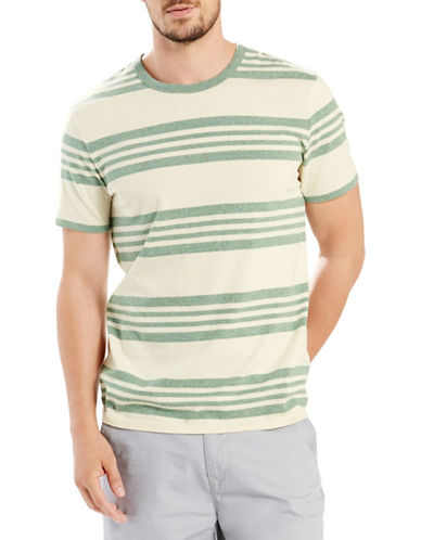 Levi'S Mission Striped Short Sleeve Tee-GREEN-X-Large 88354980_GREEN_X-Large