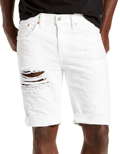 LeviS 511 Distressed Shorts-WHITE-32