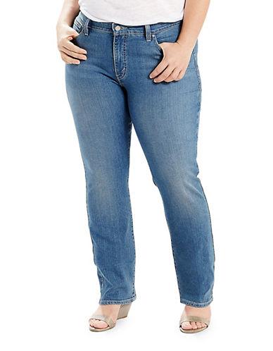LeviS Plus 414 Classic Straight Jeans-BLUE-18W