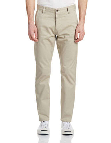 Dockers Original Alpha Slim Khaki Pants-SAFARI BEIGE-32X30