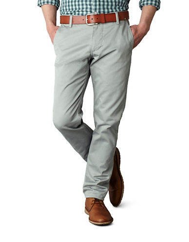 Dockers Tapered Slim-Fit Khaki Pants-BURMA GREY-42X30