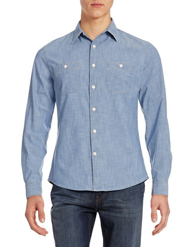 Dockers Fitted Chambray Shirt-TRUE INDIGO-Small