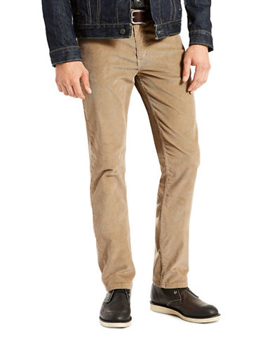 LeviS 511 Slim Fit Corduroy Pants Lead Grey-KHAKI-32X32