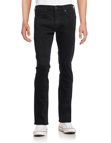 LeviS 511 Slim-Fit Selvedge Jeans-BLACK-36X32