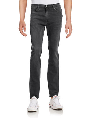 LeviS Slim Straight Performance Stretch Jeans-GREY-32X34
