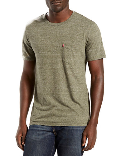 Levi'S Sunset Pocket Tri-Blend Tee-GREEN-X-Large 88548961_GREEN_X-Large