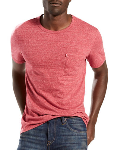 LeviS Sunset Pocket T-Shirt-RED-Small