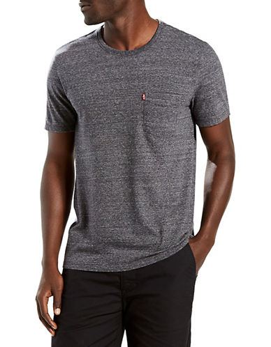 LeviS Sunset Pocket Tri-Blend Tee-GREY-X-Large