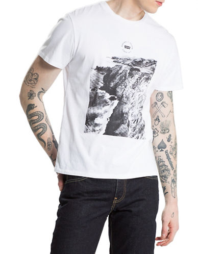 Levi'S Coastal Print Graphic Tee-WHITE-Large 88662391_WHITE_Large