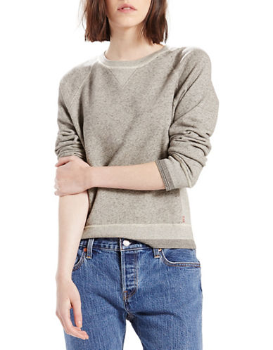 Levi'S Textured Crewneck Sweatshirt-GREY-Small 88724208_GREY_Small