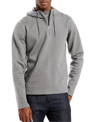 Levi'S Commuter Molleton Heathered Hoodie-BLACK-Large 88549058_BLACK_Large