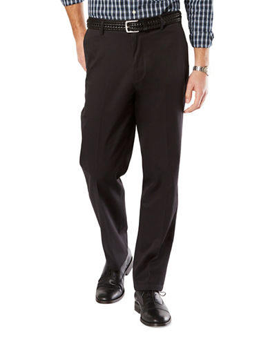 Dockers Signature Khaki Pants-BLACK-44X30