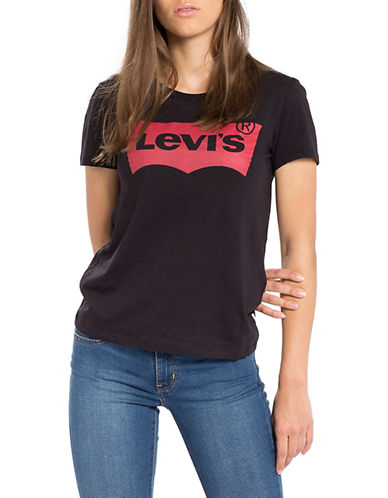 LeviS Perfect Logo Graphic Cotton Tee-BLACK-Large