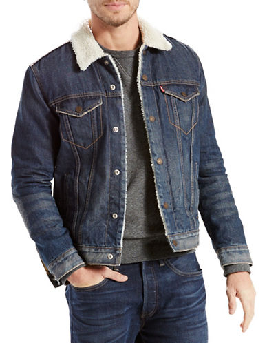 LeviS Sherpa Trucker Jacket-BLUE-X-Large