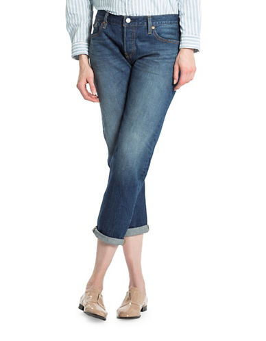 LeviS 501 Faded Cropped Jeans-BLUE-32