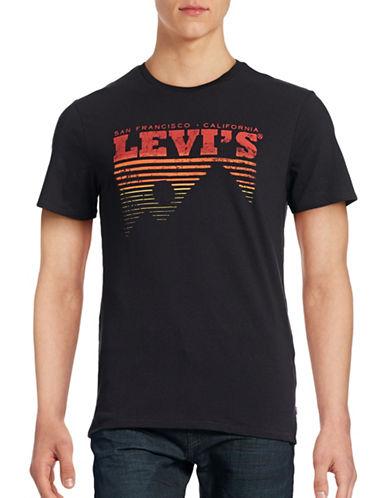 Levi'S Striped Logo T-Shirt-BLACK-Small 88662381_BLACK_Small