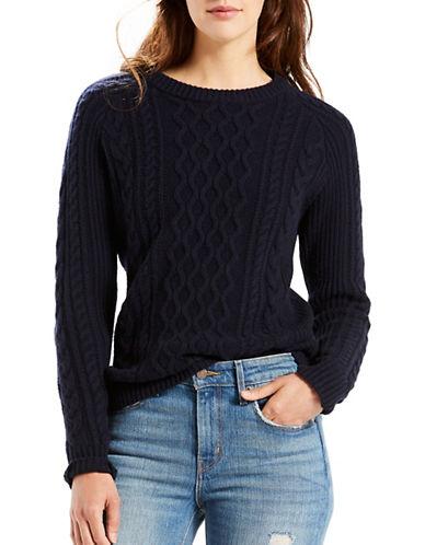 Levi'S Aran Merino Wool Sweater-BLUE-X-Large 88789095_BLUE_X-Large