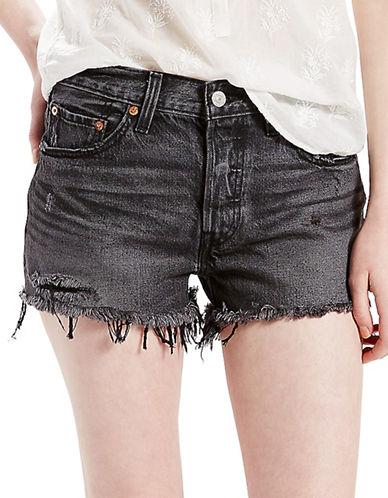 LeviS 501 Original Fit Shorts Slashed Black-SLASHED BLACK-31
