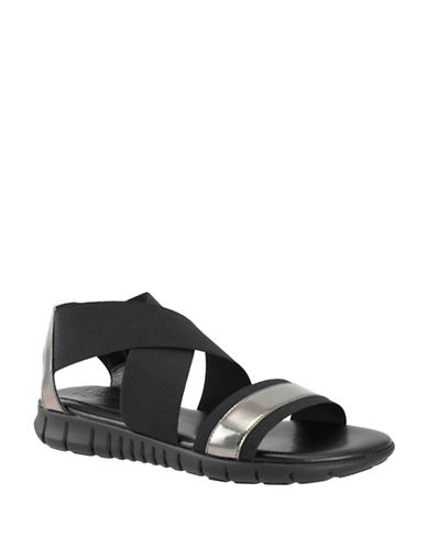 Rapisardi Ron White Daris Metallic Sandals-GUNMETAL-EUR 38/US 8