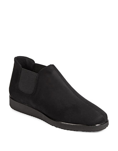Rapisardi Ron White Leah Wedge Booties-BLACK-EUR 37/US 7