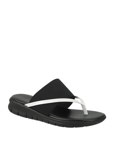 Rapisardi Ron White Eleni Patent Leather Thong Sandals-BLACK-EUR 35/US 5