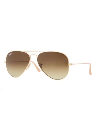 Ray-Ban Original Classic Aviator Sunglasses-MATTE GOLD/BROWN (112/85)-55 mm