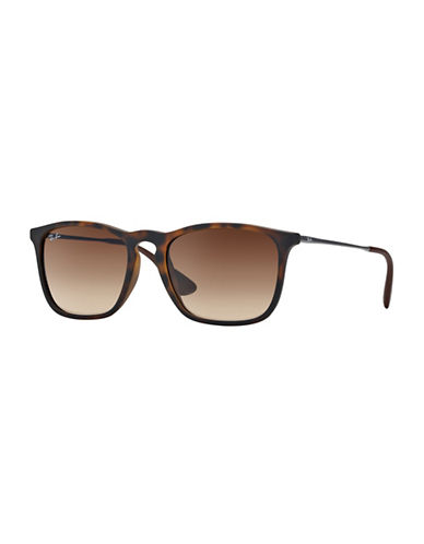 Ray-Ban Chris Square Sunglasses-RUBBER HAVANA (856/13)-54 mm