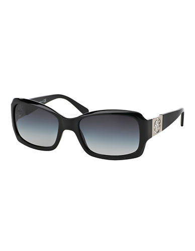 Tory Burch Classic Square Sunglasses-BLACK-One Size