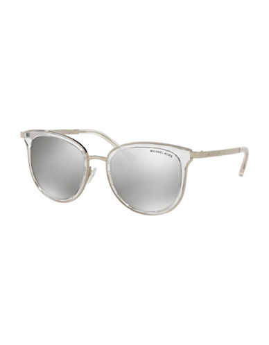 Michael Kors 0MK1010 Gradient Lens 54mm Sunglasses-GREY/SILVER-One Size