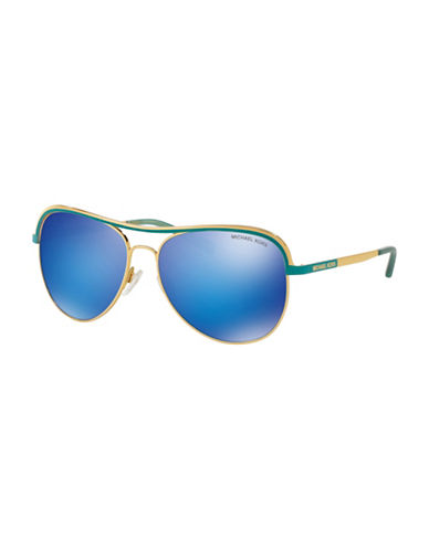 Michael Kors 0MK1012 Mirror Lens 58mm Aviators-BLUE-One Size