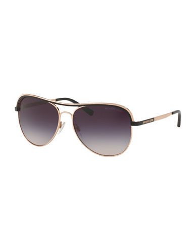 Michael Kors 0MK1012 Mirror Lens 58mm Aviators-BLACK-One Size