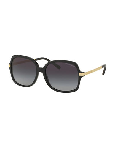 Michael Kors 57mm Square Sunglasses-BLACK-One Size