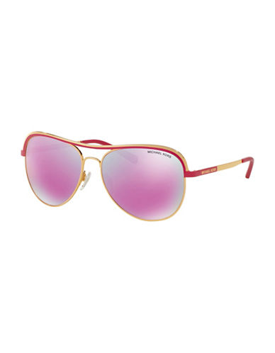 Michael Kors 0MK1012 Mirror Lens 58mm Aviators-PINK-One Size