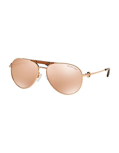 Michael Kors 58mm Brow Bar Pilot Sunglasses-GOLD-One Size