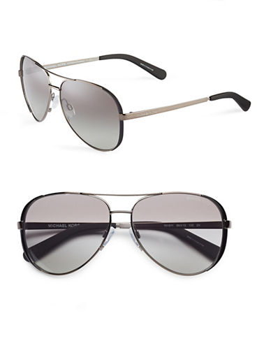 Michael Kors Chelsea 59mm Aviator Sunglasses-GUNMETAL/BLACK-One Size