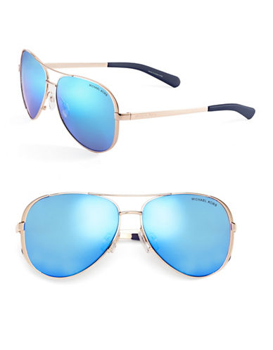 Michael Kors Chelsea 59mm Aviator Sunglasses-BLUE-One Size