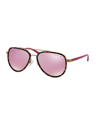 Michael Kors Playa Norte 57mm Aviators-PINK-One Size